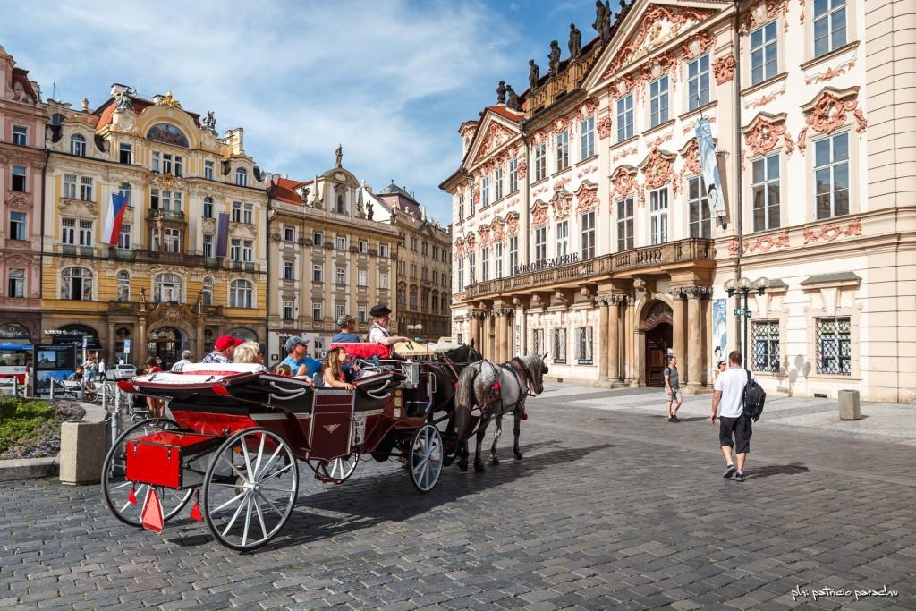 Se puede pasear por la ciudad en autos antiguos, en carros tirados por caballos y también Segways.