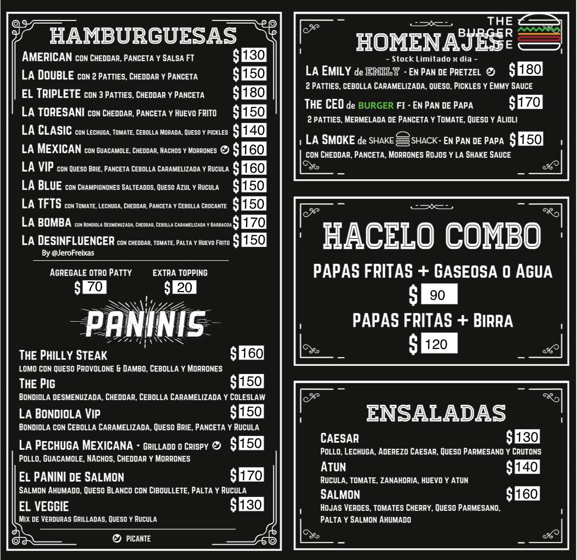 Menu The Food Truck Store Recoleta